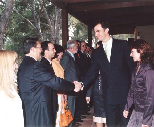 Su Majestad el Rey Felipe VI de España con Nicolás Ramos Pintado
