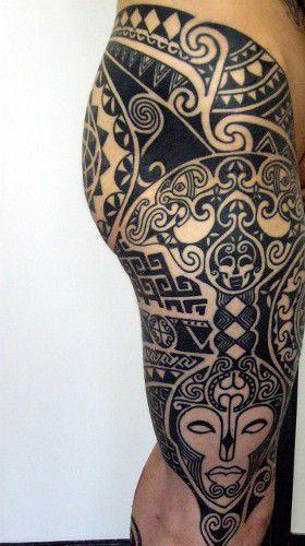 tatuaje_etnico_muslo_pierna