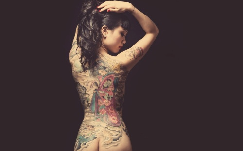 woman asian tattoo