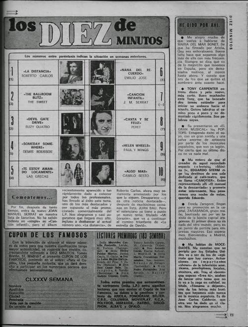 los 10 de diez minutos 1974