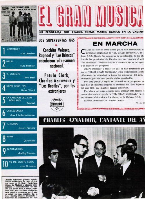 revista ondas enero 1966, resumen de disco más vendidos superventas el gran musical (2)
