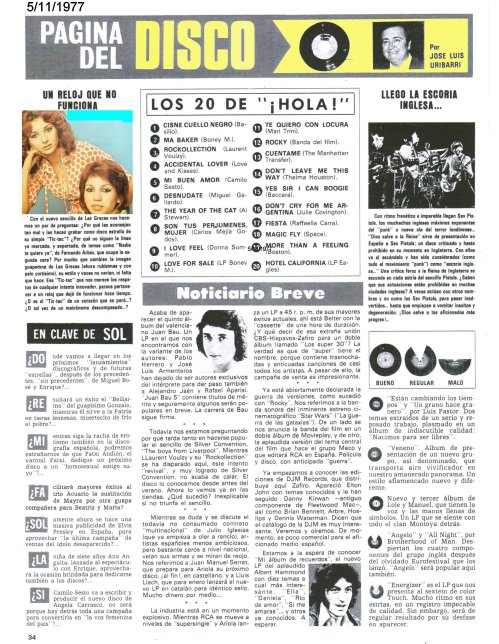 JOSE LUIS URIBARRI REVISTA HOLA LISTA DE EXITOS
