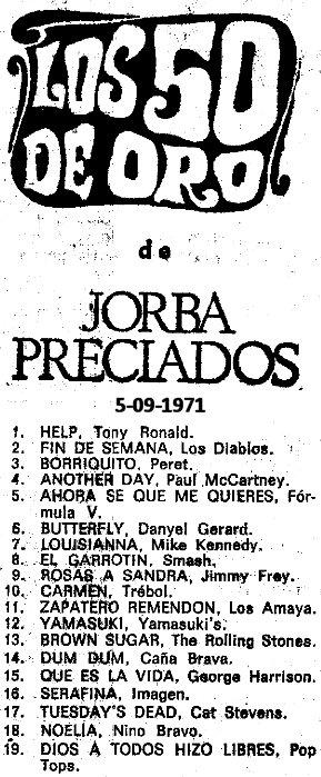 Help_tony_ronald_numero_uno_los_50_de_oro_1971