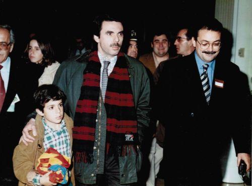 José María Aznar y Nicolas Ramos Pintado (Aeropuerto de Manises 1996)