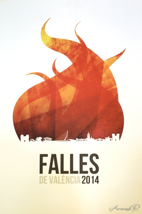 La València en flames de Rafa Vilches anunciará las Fallas 2014. Este valenciano repite éxito después de que obras suyas anunciaran las Fallas del 2006, 2010 y 2011.