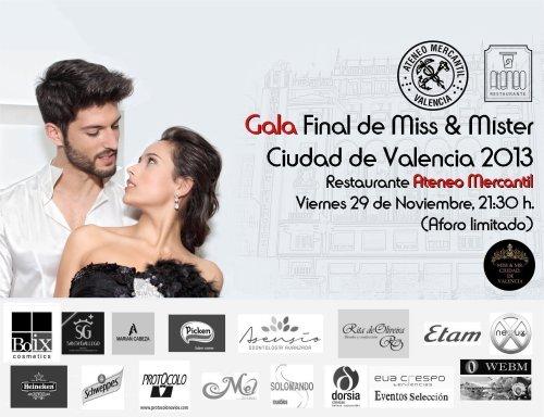 cabecera gala final miss & mr. ciudad de valencia 2013 ateneo mercantil
