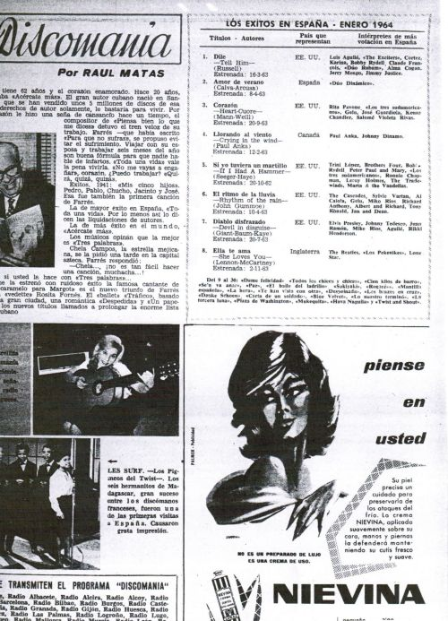 lista de exitos discomania 1964