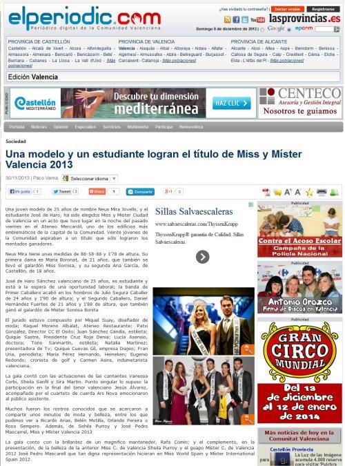 miss ciudad de valencia 2013