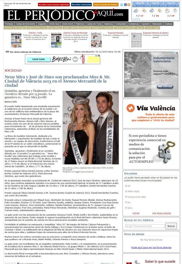 miss & mr. ciudad de valencia 2013 ep periodico de aquí