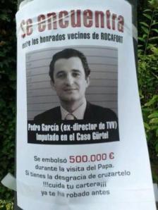 Escrache a Pedro García en Rocafort