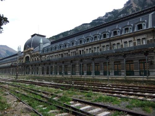 Estación de trenes de Canfranc. España.