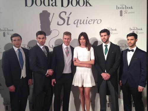 Los modelos de Miss & Mr. C. de Valerncia con Nieves Álvarez