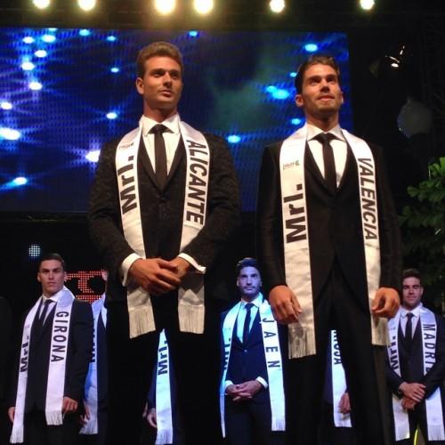 david roca y jose de haro 1º y 2º clasificado en Mister Internationa Spain 2014