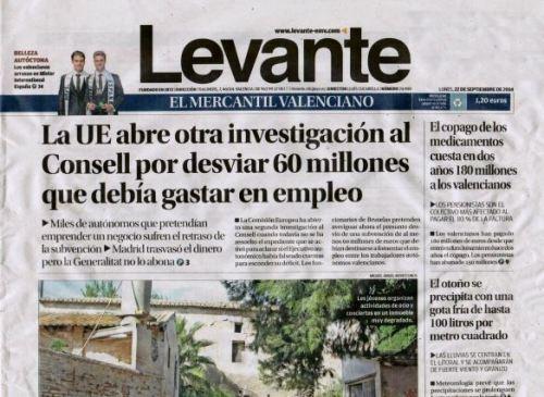 David Roca y Jose de Haro en la cabecera de Diario levante