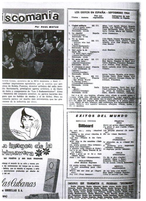 lista de exitos discomania octubre 1964