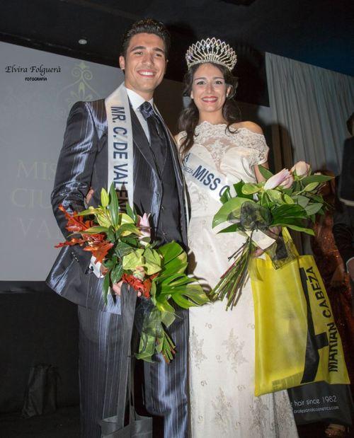 Noemí  Cruz Bosom y Daniel Barreres del Mundo proclamados Miss y Mr. C. de Valencia 2014