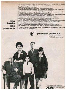 perfil de la familia media en España en 1965_publicidad_gisbert