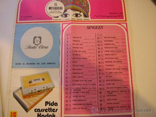 el musiquero agosto 1972