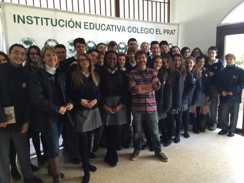El dibujante valenciano Paco Roca y su clase magistral para el alumnado de Colegio El Prat. (4)