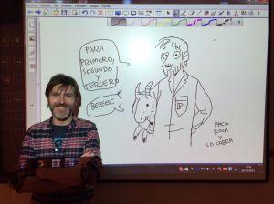 El dibujante valenciano Paco Roca y su clase magistral para el alumnado de Colegio El Prat.