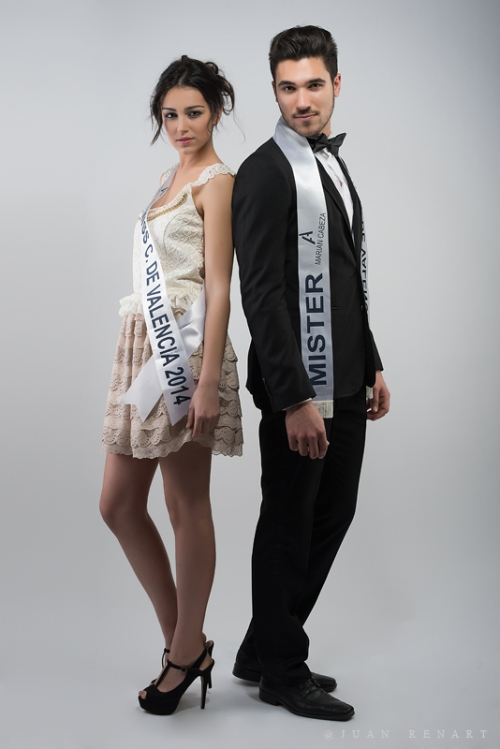 Miss y Míster Ciudad de Valencia 2014. Noemí Cruz Bosom y Daniel Barreres del Mundo. Foto: Juan Renart