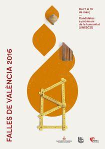 El fuego, la música, el humor y el protagonismo de la mujer son los cuatro temas a los que hacen referencia los nuevos carteles para de Valencia de 2016.