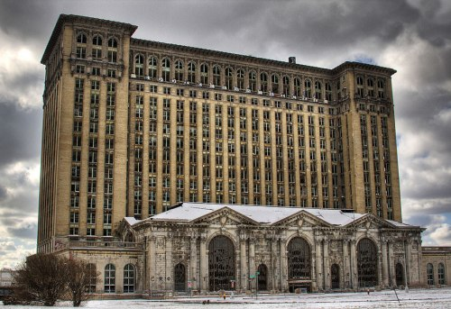 lugares terrorificos Estación Central de Michigan. Detroit, EEUU.
