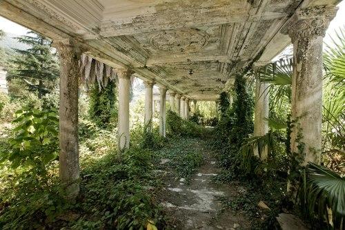 lugares terrorificos Estación de Tren Abandonada, Abkhazia, Georgia