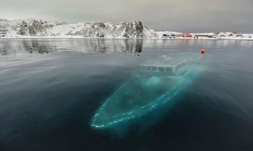 lugares terrorificos Estación Sunken Yacht, Antarctica