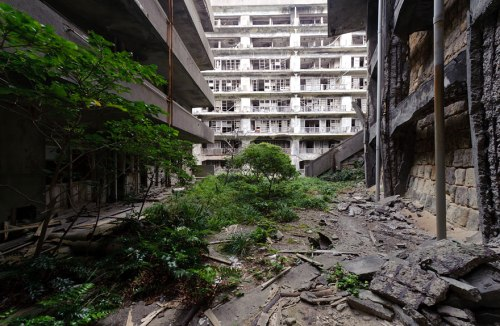 lugares terrorificos Hashima Island, Japan (2)