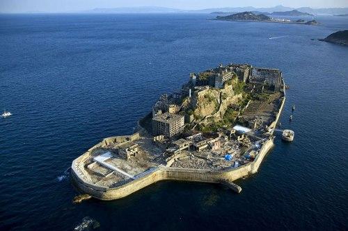 lugares terrorificos Hashima Island, Japan