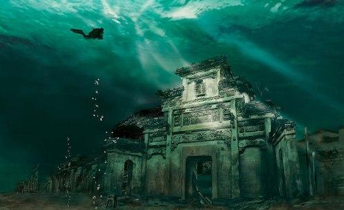 lugares terrorificos Underwater City in Shicheng, China (Cuidad Sumergida. Shicheng, China.)