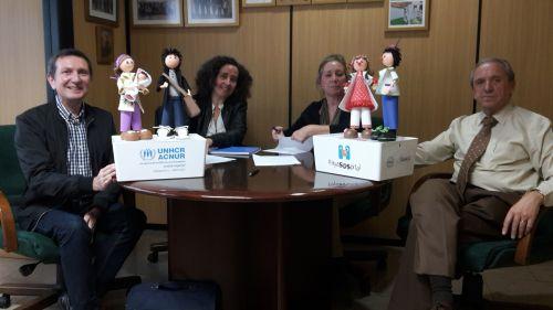 FECEVAL hace entrega a ACNUR y PAYASOSPITAL de una donación de dos mil euros