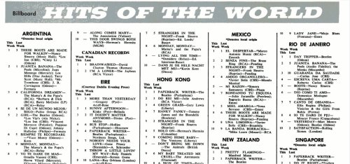 billboard hits of the world 13 de agosto de 1966
