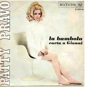 Portada de la revista juvenil Jovani editada en Italia el 20 de junio de 1968 en cuya lista de éxitos Patty Bravo en nº 1 con -La Bambola-