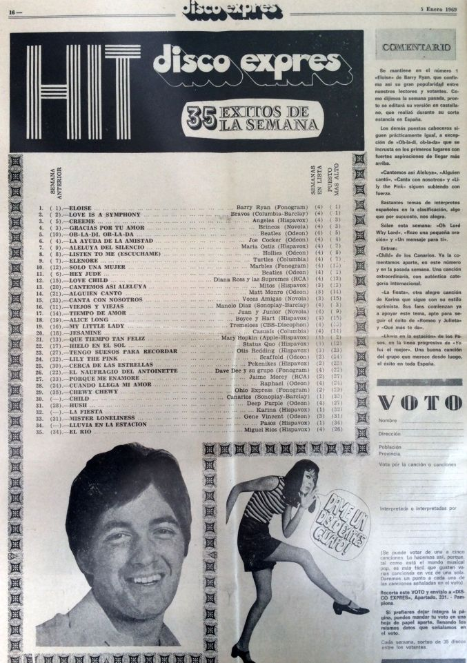 Hit Parade Revista Disco express 05-01-1969