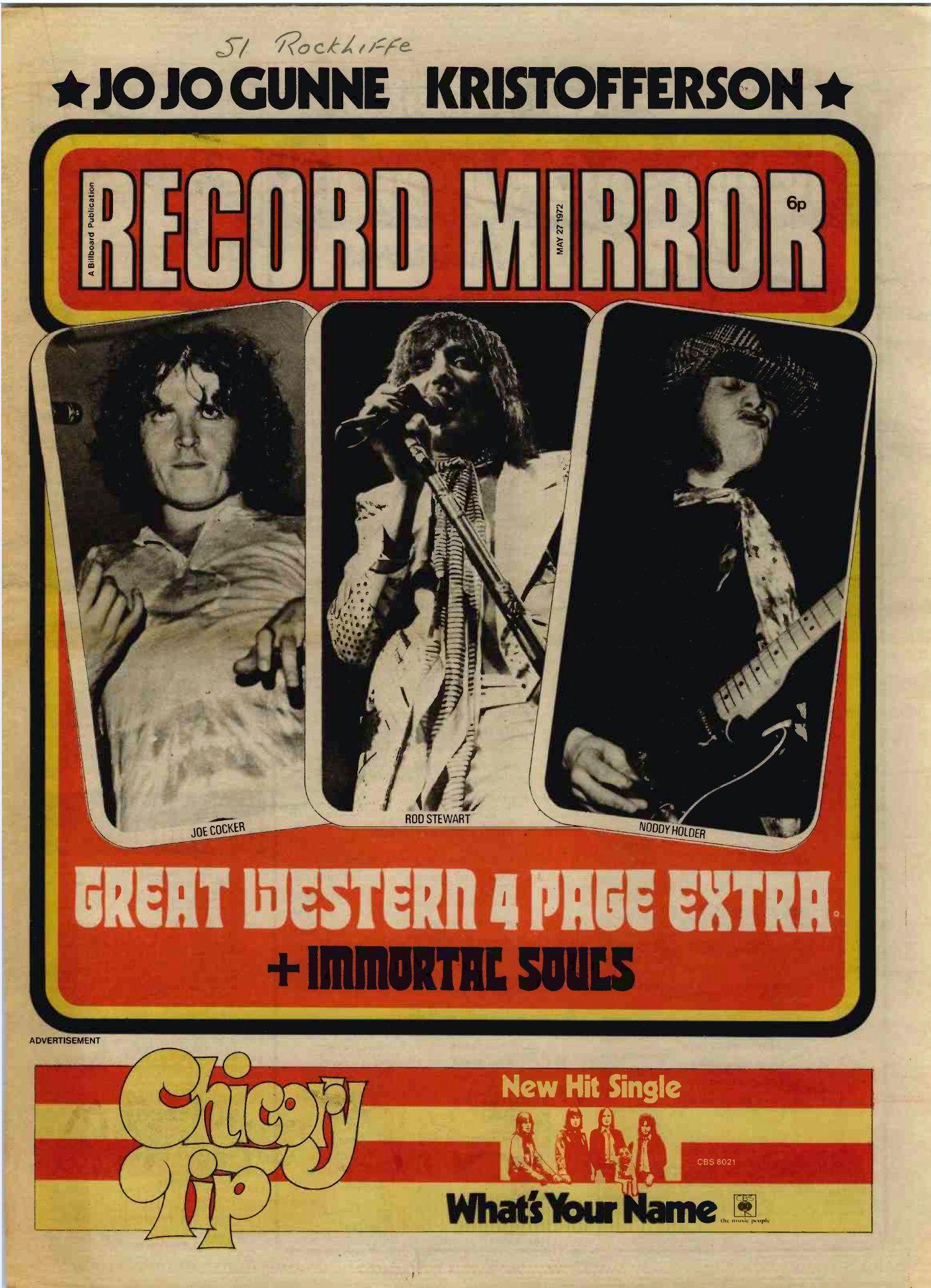 record mirror top uk marzo de 1972